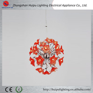 Modern decorative hanging pendant light plastic flowers hanging pendant lamp tifany lamps hanging light
