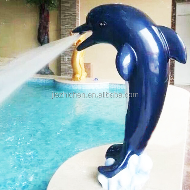 Outdoor Garden Swimming Pool Fiberglass Dolphin Water Fountains