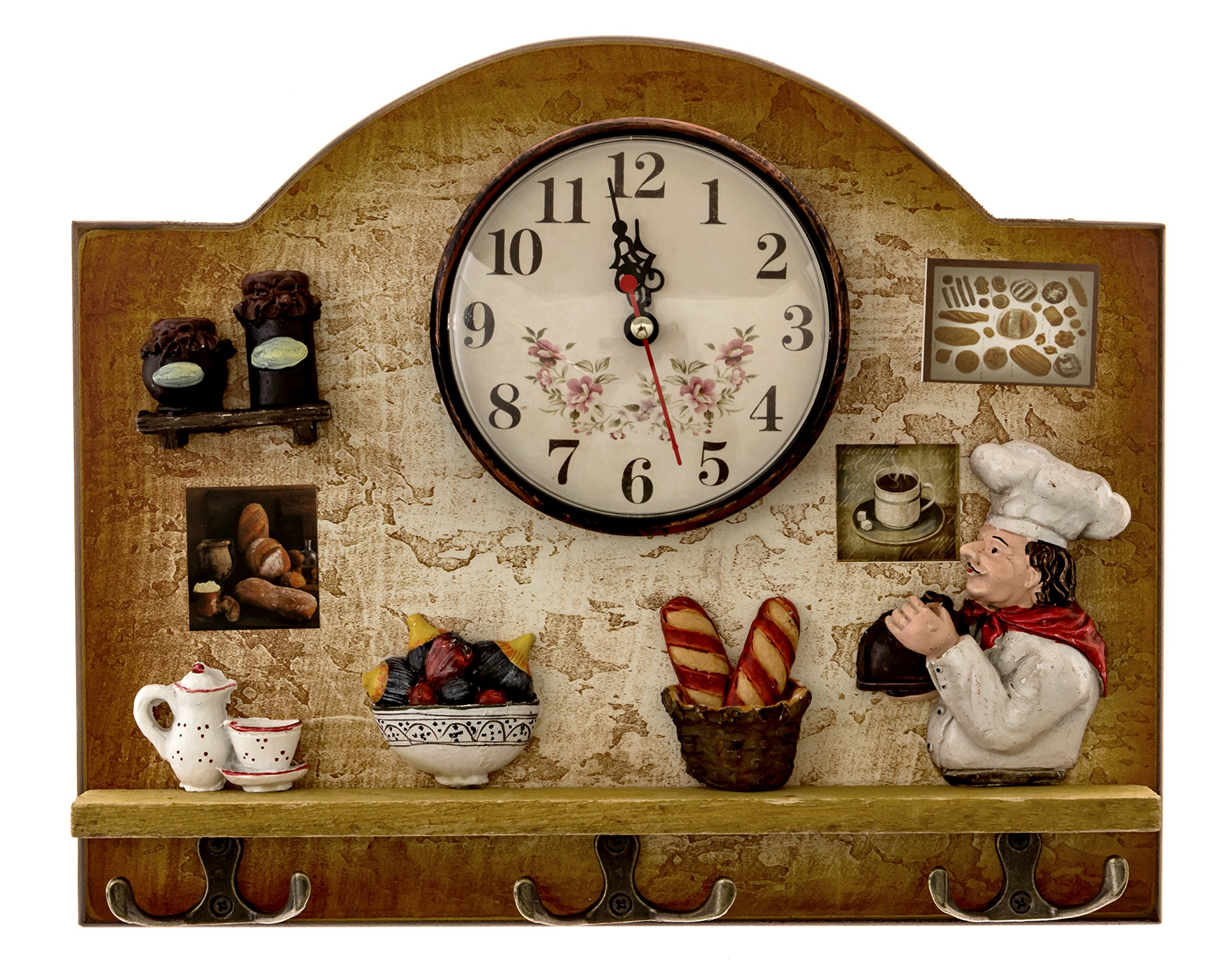 Buy Heartful Home Fat Italian Chef Kitchen Decor Clock With Hooks Unique Idea For A Wedding Or Housewarming Present In Cheap Price On Alibaba Com