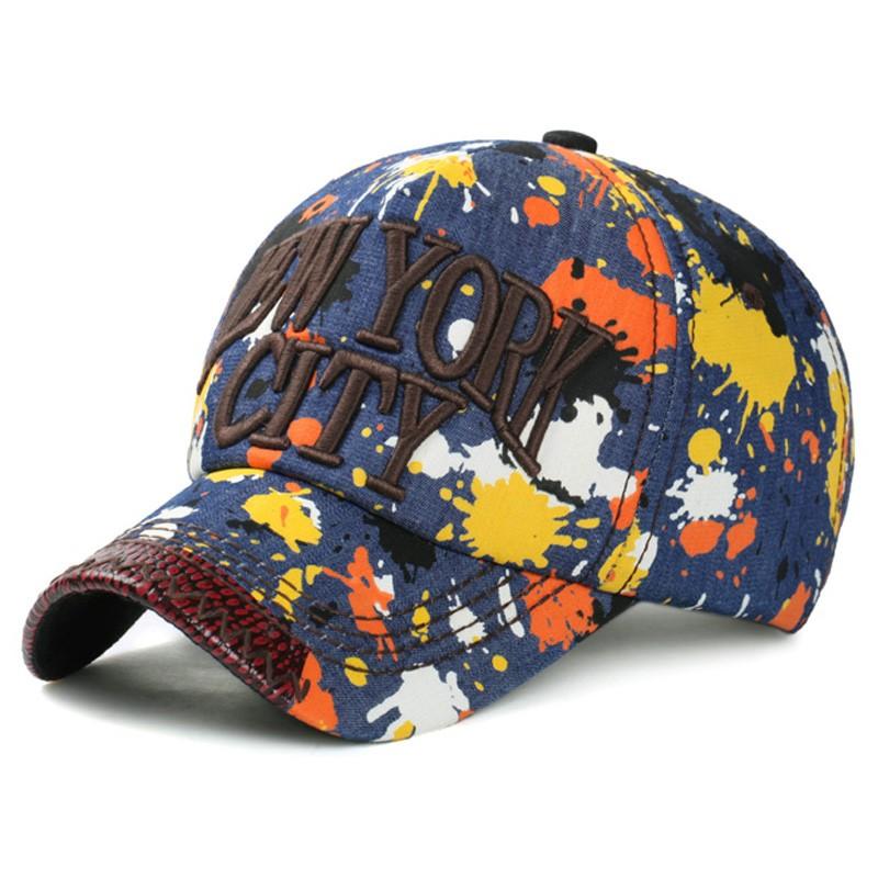 Cappello berretto da baseball Demin NEW YORK CITY logo 3D sport sole gorras  bone Paint graffiti stampa chapeau uomo donna PU regolabile jean cap 0b62913f9e4b