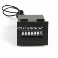 7 digit mechanical totalizer pulse counter