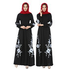 2018 Modest Fashion Maxi Ladies Abaya Wholesale Women Muslim Dress Turkey