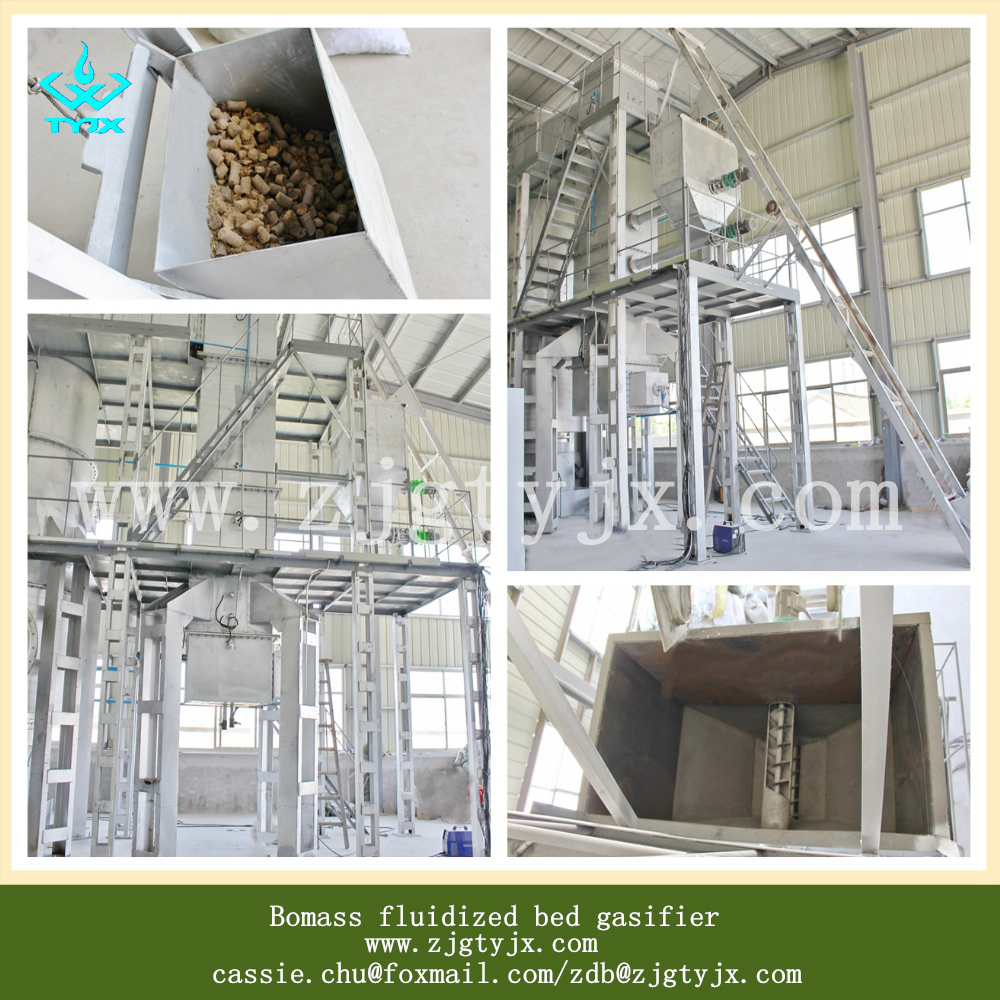 1MW Biomass gasification plant for supplying heat or generating electric power