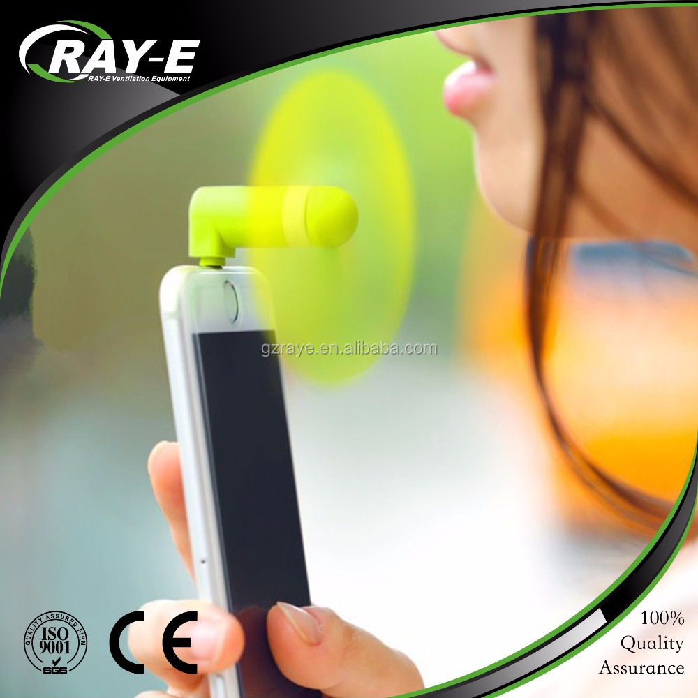 wholesale mute cell phone fan usb mini mobile phone fan with business logo
