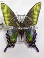 UV Oil 4C Printing Butterfly Decorative Acrylic Wall Clock