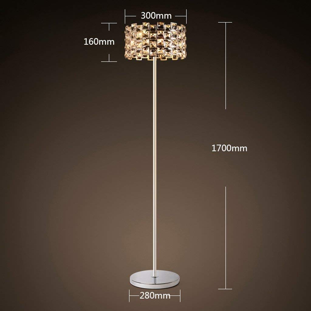 DEED Floor Lamp-Led European-Style Crystal Floor Lamp Modern Simple Creative Living Room Bedroom Vertical Floor Lamp, Vertical Floor Lamp Eye Protection Vertical Table Lamp