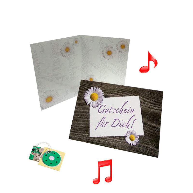 chinese 50th wedding anniversary invitation cards with music chip