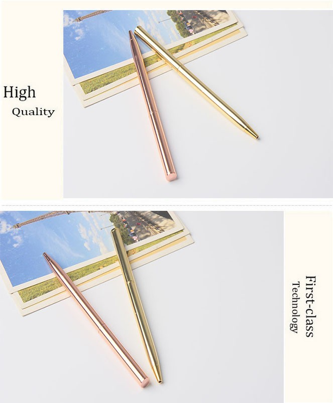 Fashionable hotel promotional ballpoint pen raw material can be assemble cross gold rose gold sliver metal ball pen nice quality