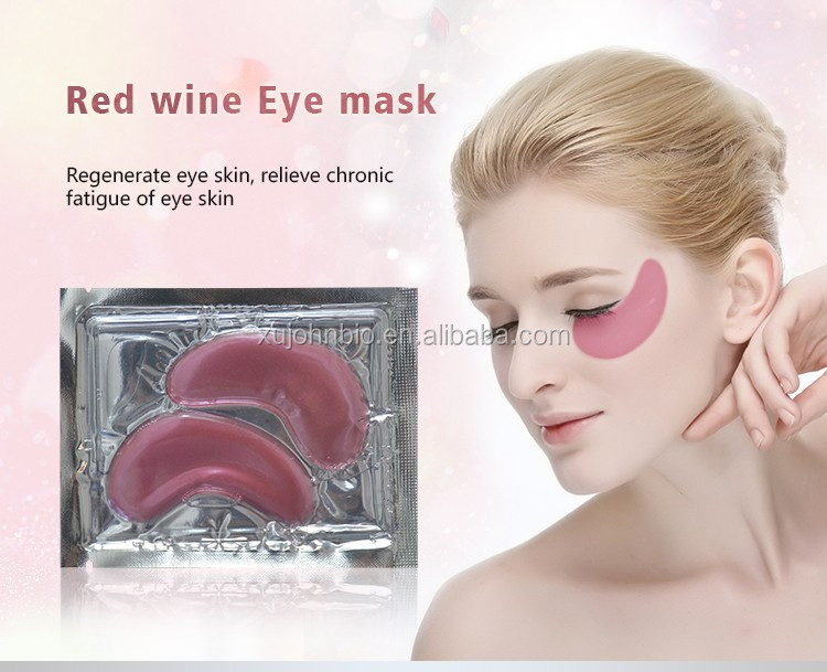 Wholesale Beauty Supply Distributor Moisturizing Nourishing And Firming Red Wine Eye Mask