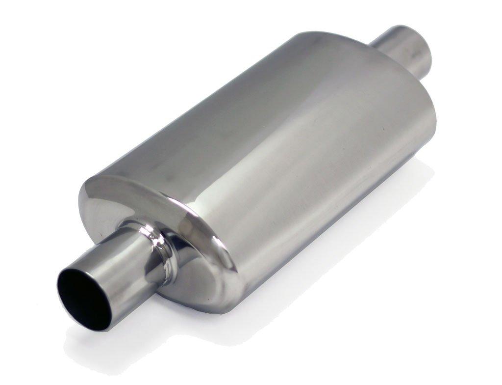 Yonaka Universal 2.25 Stainless Steel High Flow Straight Through Exhaust Resonator 16 Length