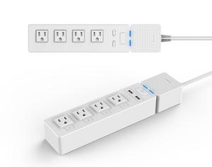 Wholesale factory price 4 US type AC outputs+2 USB outputs wifi smart socket Alexa/Google home power strip