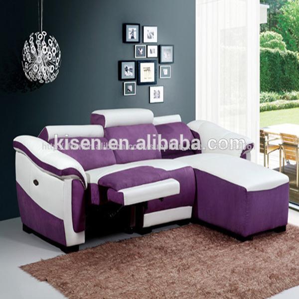 tissus d 39 ameublement canap canap lit et demi cercle violet km8085 canap salon id de produit. Black Bedroom Furniture Sets. Home Design Ideas