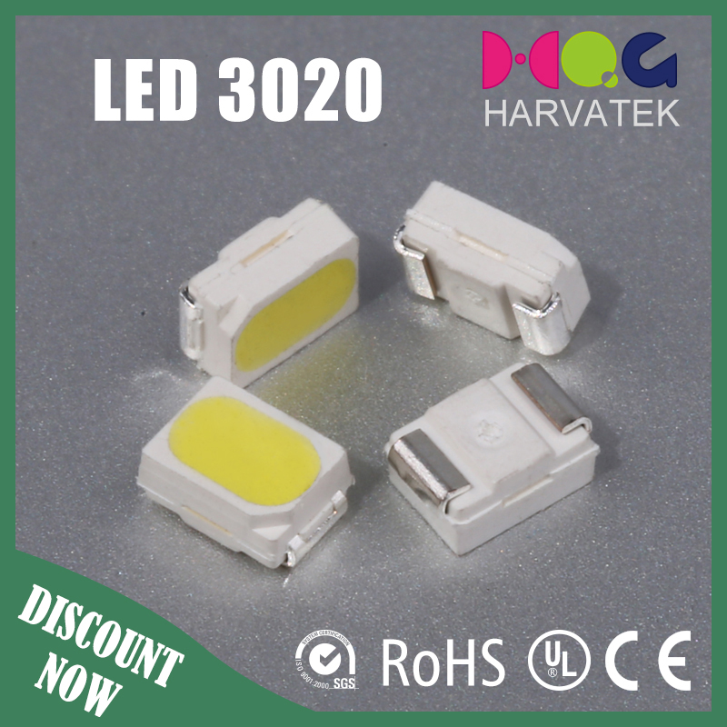 Good quality 3.0x2.0x1.3mm sanan chip 30mA cool white led smd 3020