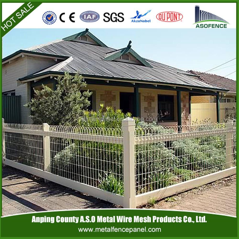 Decoratieve tuin gaas geweven draad hek in de tuin-Hekwerk ...