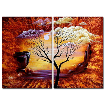 High quality group abstract paintings of the tree of life