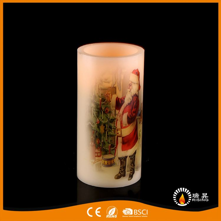 Newest European fad cheap price flickering flame led wax candle