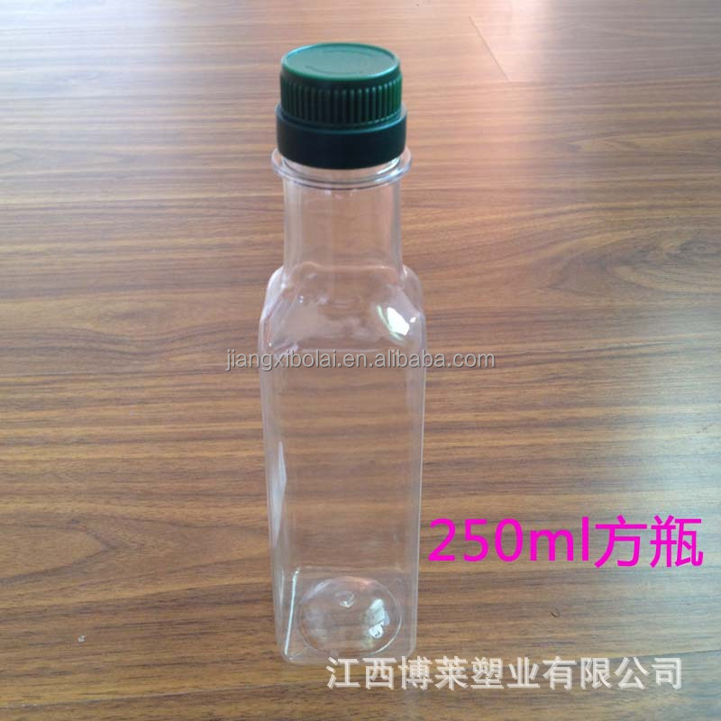 250ml Clear PET Plastic BBQ Cooking Oil Bottle Kitchen Container Olive Oil Bottle