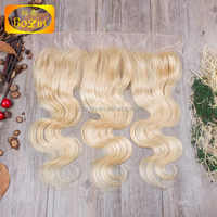 New Product 613 Blonde Brazilian Human Hair Body Wave Lace Frontal Closure Free,Middle Part 3 Virgin Hair Unprocessed
