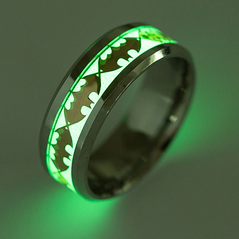 Hot selling men Titanium steel products bat intelligent luminous smart <strong>ring</strong>