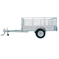 Single Axle Car Box Trailer 8*5 Semi Cargo Cage Trailer Single Axle Trailer ATM 750KG