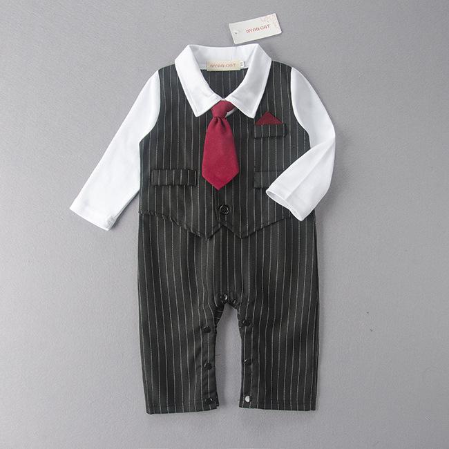 4ce9e818ea425f Bild vergrößern. Baby Trägt Strampler Gentleman Baby Jungen Neugeborenen ...