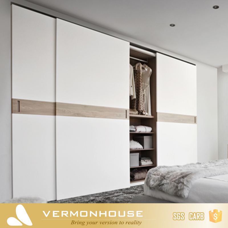 2018 China Custom Furniture Factory Simple 3 Door Bedroom Wardrobe Design