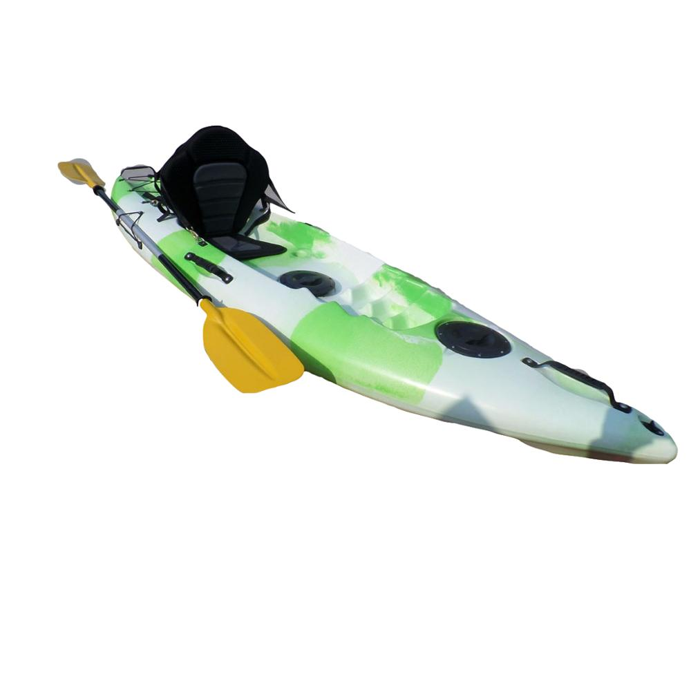 Sit on top pesca ocean sea kayak drive pedale kayak/di plastica 3 Persona canoa