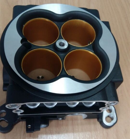 Precision custom aluminum CNC machining services die cast metal throttle body parts
