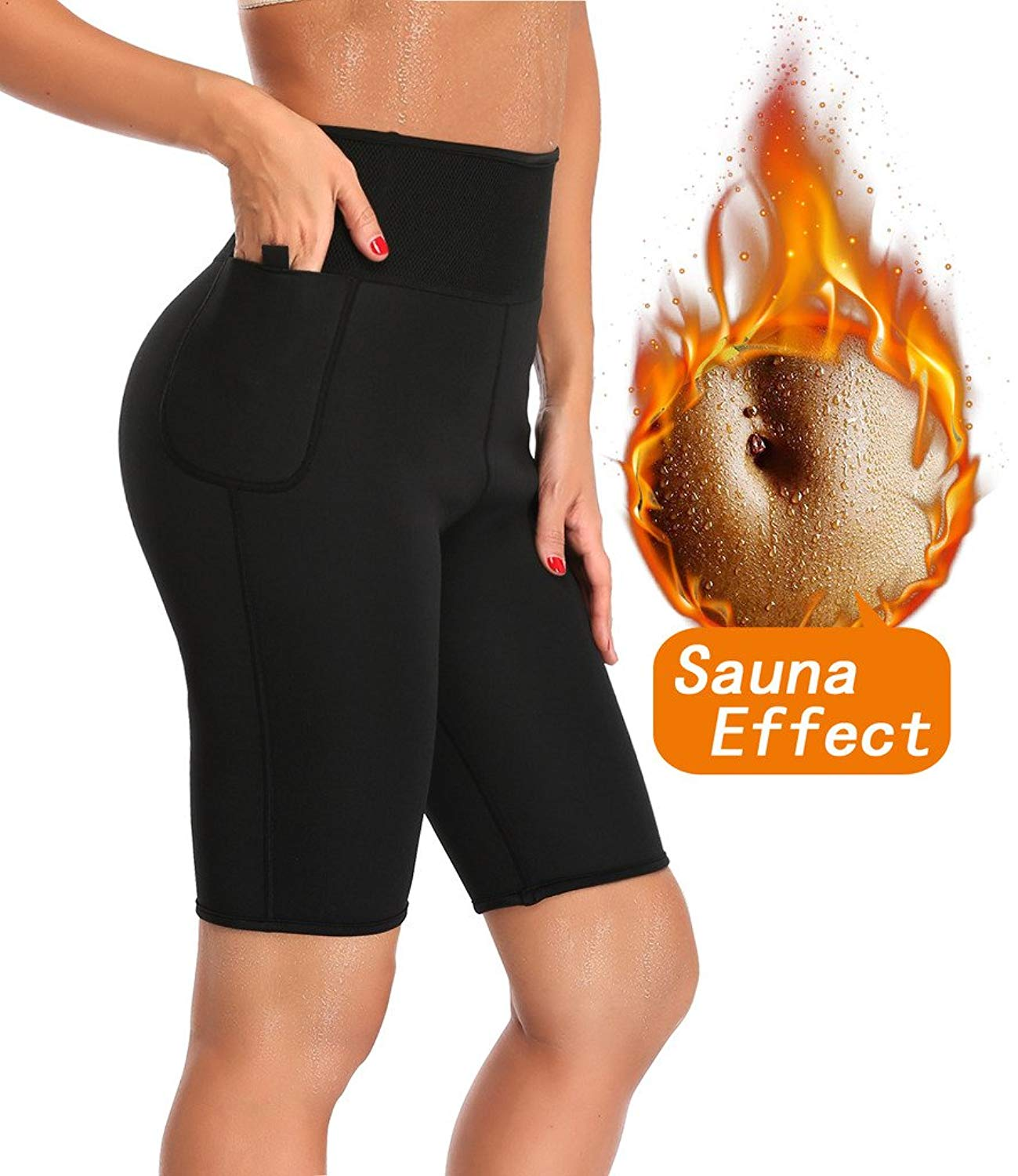 8ce73d5d0 Get Quotations · Speed Wing LAZAWG Women Slimming Sweat Anti Cellulite  Weight Loss Shorts Hot Thermo Neoprene Body Shaper Pants