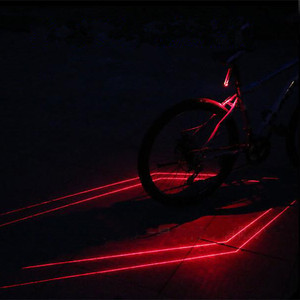 Bike Laser Light Cycling Bicycle LED Tail Light for Night Riding