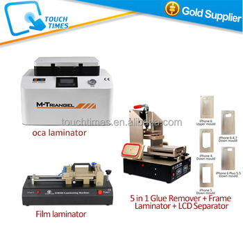 Cheapest 3 in 1 lcd repair machine kits for mobile phone lcd screen touch digiziter replacement from start to end by OCA Film