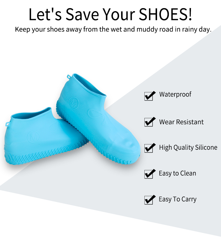 New Design Rain Water Proof Silicone Waterproof Shoe Cover