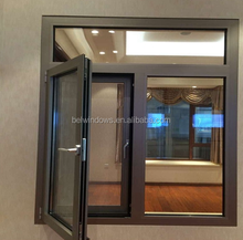 Aluminium Double Sashes Glass Casement Window Guangdong Factory Price