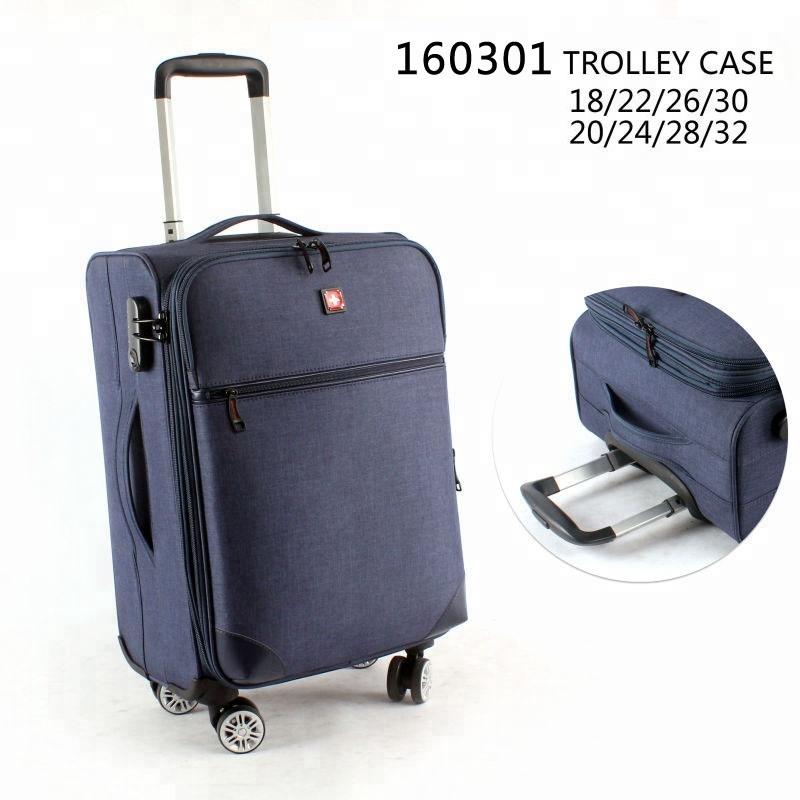Hot sale factory supply spinner luggages fashion travel trolley soft valise luggage