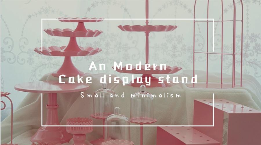 ピンクケーキパン、ヨーロッパスタイル鉄アートケーキラック、結婚式のデザートテーブルセット個。