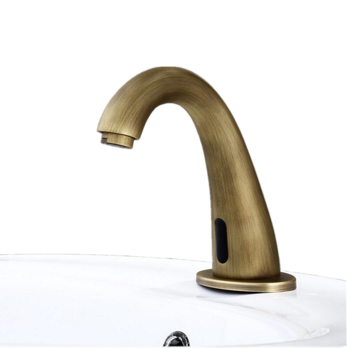 Touchless Faucet Automatic Sensor Hot/&Cold Water Tap Faucet Stainless Steel Hands Free Bathroom Sink Faucet US Plug 3//8 C, 9//16