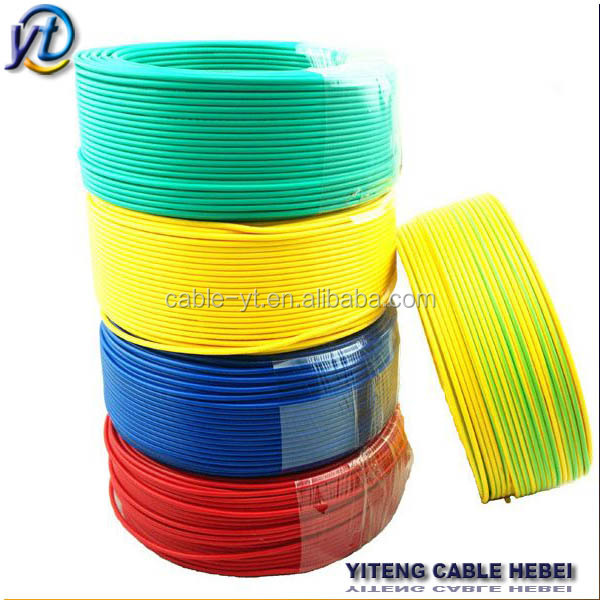 electrical wire prices of pvc copper/aluminum conductor 0.5mm 1mm 4mm 6mm 10mm 25mm pvc electrical cable