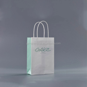 thin material paper twisted handle mini gift bag for cake packaging