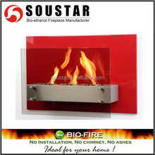 2017 indoor used bio ethanol wall decorative fireplace