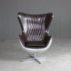 Superior Quality Hotel / Office / Home / Club Design Leather Egg Shaped Chair