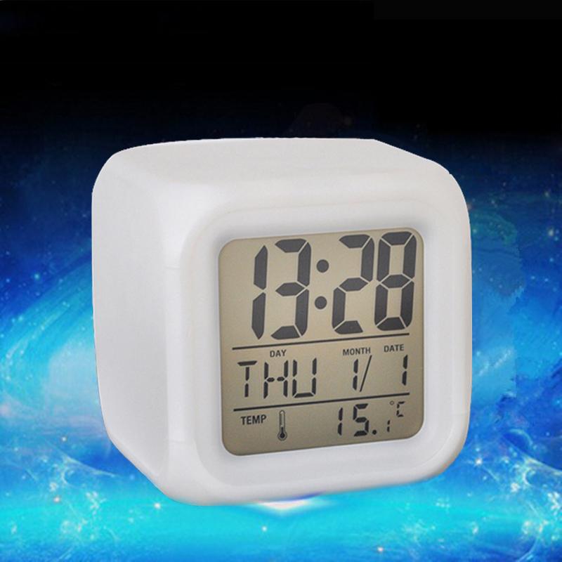 7 colors change led digital clock desktop clocks digital. Black Bedroom Furniture Sets. Home Design Ideas