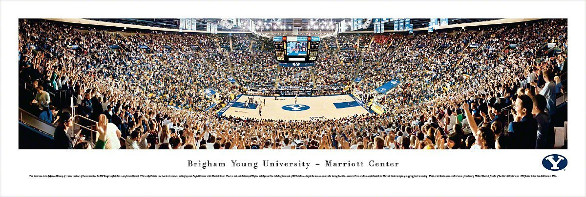 Brigham Young Cougars Basketball at Marriott Center - Blakeway Panoramas Print