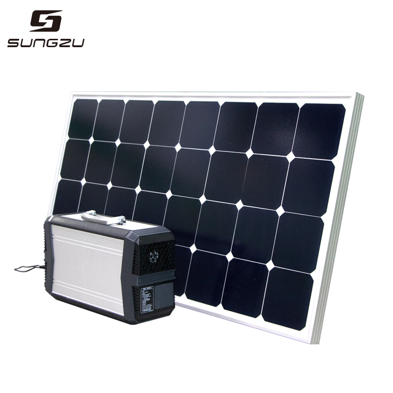 500W Power Bank AC and DC Output Plus Solar Panel 80W/100W Package for USA