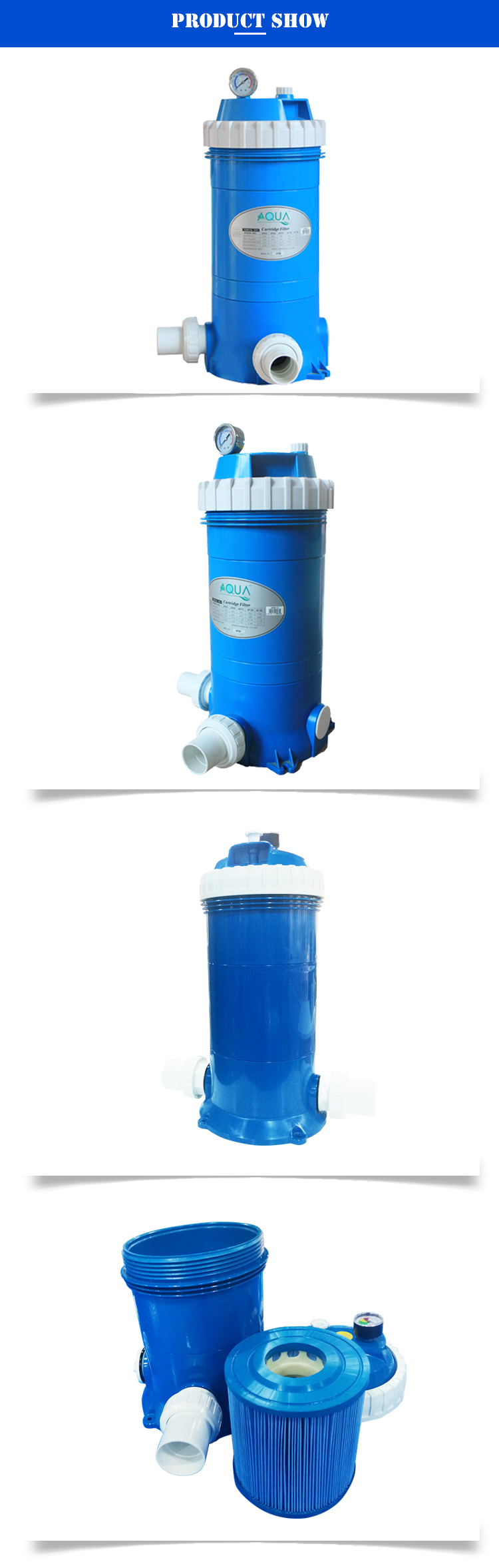Fada da água Piscina Filtro Cartucho Plissado 85 CM 31 Polegadas