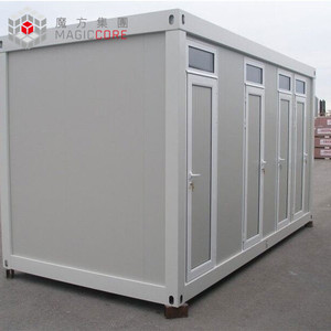 Custom shower container portable toilet container house kitchen toilet container hotel use mobile portable toilet