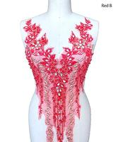 Blossom 3D Flower Applique, Beaded Sequins Flower LACE Patch Bridal Wedding Dress Embossed Beading Embroidery lace Appliques Mot