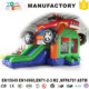 inflatable monster car combo bouncers with slide for toddlers