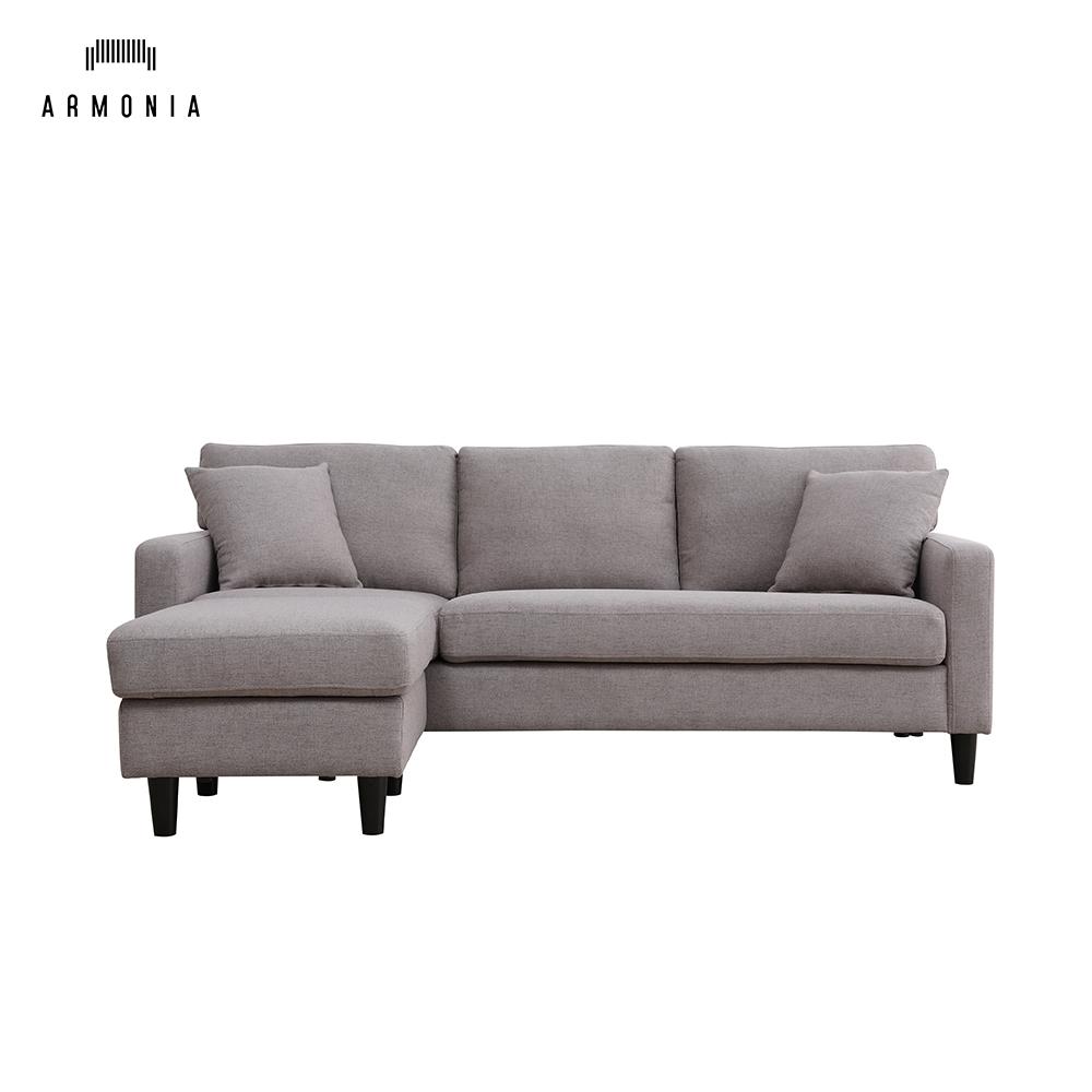 Small L Shaped Fabric Sofa