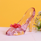 Wholesale Beautiful Glass Craft Crystal High-Heel Cinderella Shoes