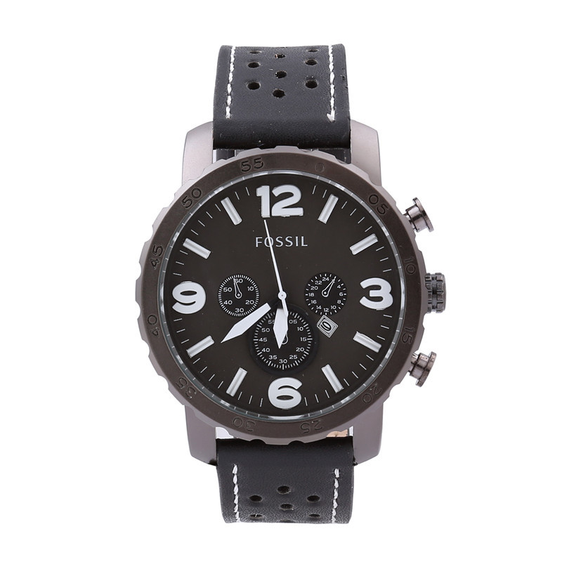 2015 hot Fashion White Dial Brown Leather Strap Business Clock Army Military Wristwatches Quartz Male Casual Men Women watch